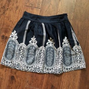 5/$25 skater mini skirt with faux lace print